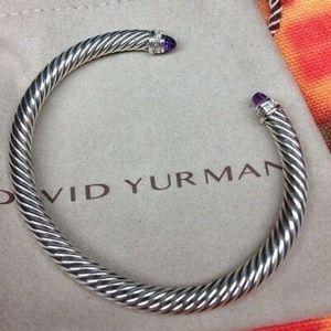 David Yurman 5mm Amethyst & Diamonds Bracelet